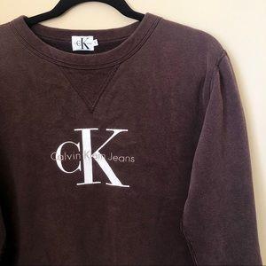 Vintage Calvin Klein Sweatshirt Brown